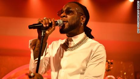 Burna Boy performs onstage at the pre-Grammy party at Hollywood Athletic Club on January 23, 2020