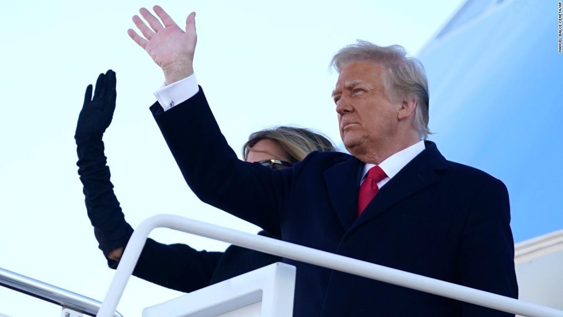 Trump departs Washington a pariah as his era in power ends