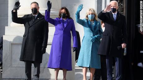 See historic moment as Joe Biden and Kamala Harris arrive at US Capitol
