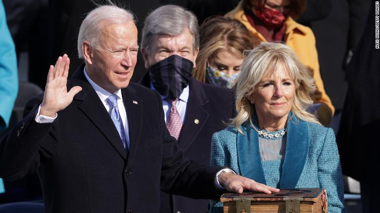 The most important line in Joe Biden's inaugural address
