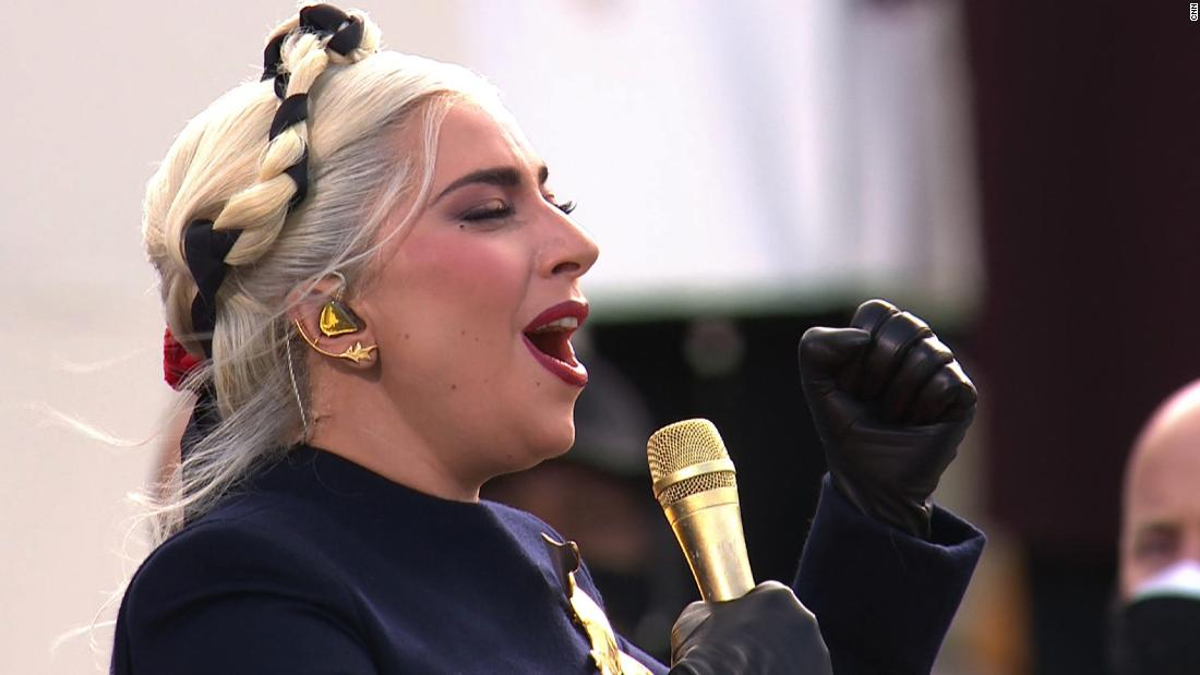 Hear Lady Gaga sing the National Anthem at inauguration -