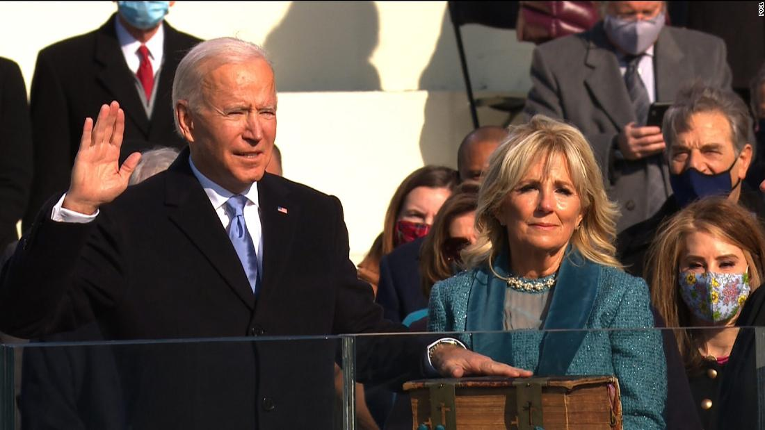 BIDEN AND HARRIS SWORN IN