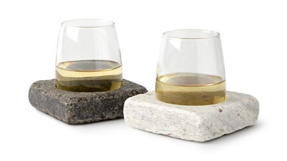 Wine Chilling Coasters with Glasses