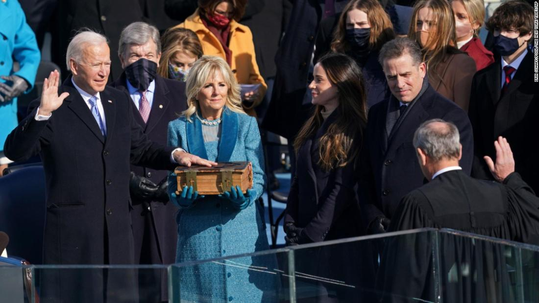 Biden was sworn in on a storied 19th-century family Bible
