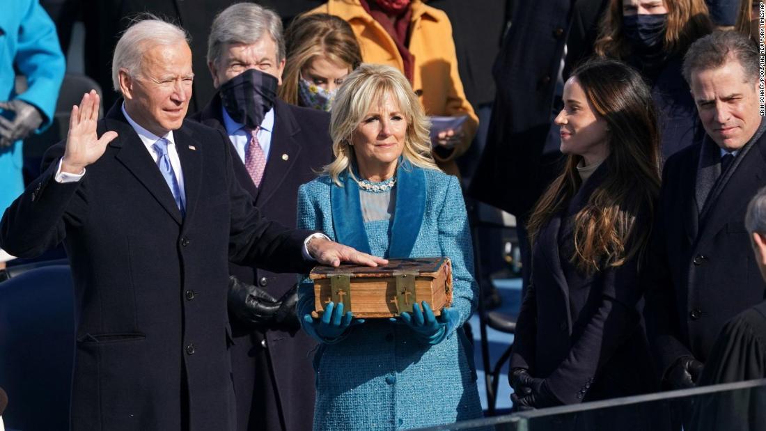 Biden was sworn in on a treasured 19th century family Bible