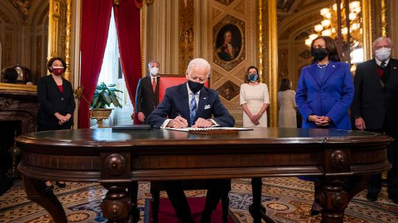 Biden signs three documents after his swearing-in ceremony: his inauguration day proclamation, his nominations for the Cabinet and his nominations for sub-Cabinet positions.
