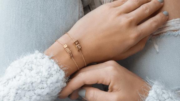 Capsul Heart Block Brass Bracelet