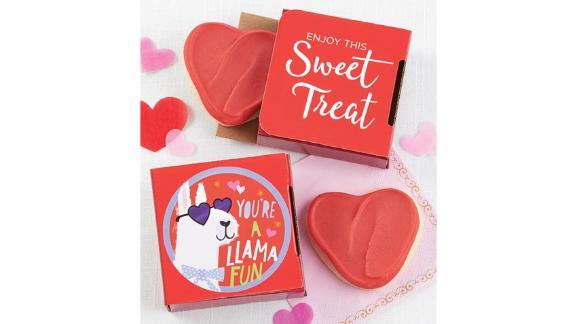 You're a Llama Fun Valentine's Day Cookie Card