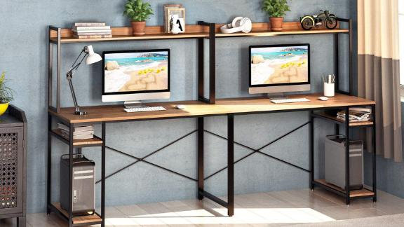 Vipek Double Workstation Home Office Desk