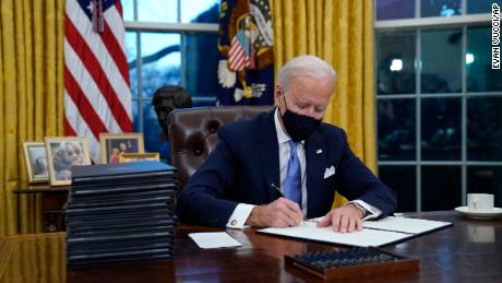 Biden signs executive actions aimed at dismantling Trump's policies