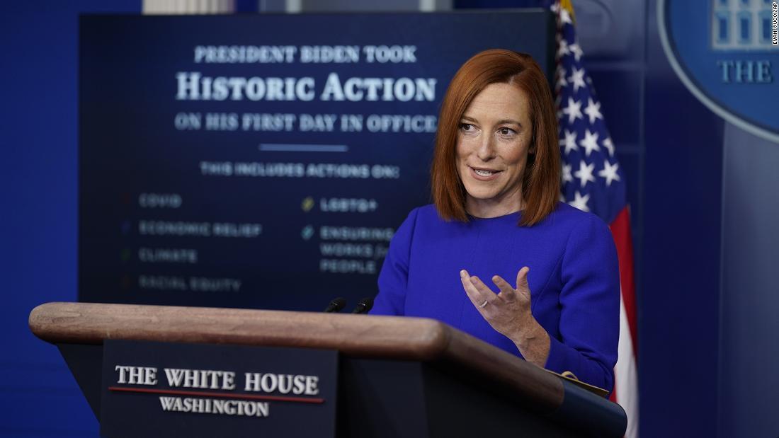 White House press secretary Jen Psaki vows transparency on first day - CNN Video