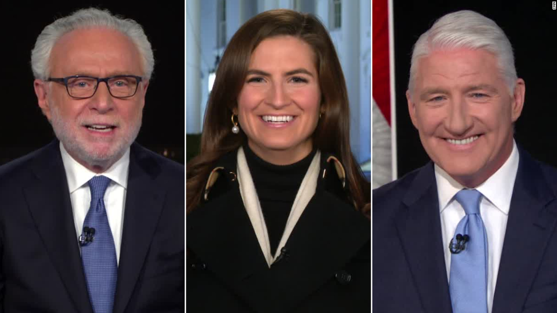Kaitlan Collins cracks up over Wolf Blitzer and John King's CNN throwback video - CNN Video