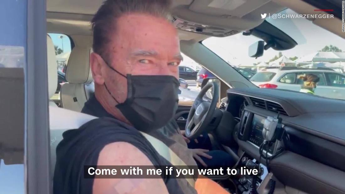Schwarzenegger revives iconic character after vaccination