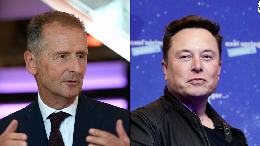 VW CEO Herbert Diess joins Twitter, trolls Elon Musk - CNN