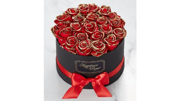 Magnificent Roses Preserved Gold Kissed Red Roses