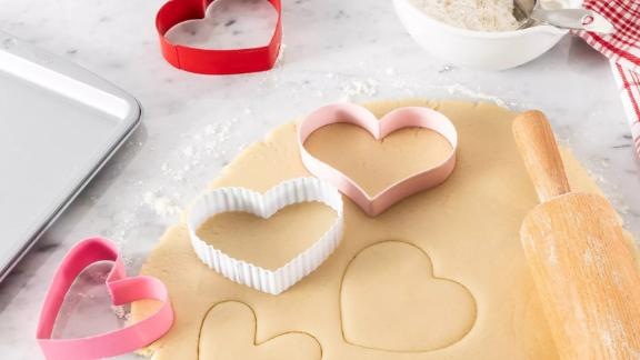 Spritz 5 Piece Stainless Steel Heart Cookie Cutter Set