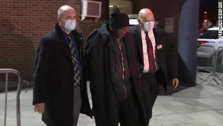 NYPD arrested Kevin Gavin (center) after the killing of three residents at a Brooklyn senior housing complex.