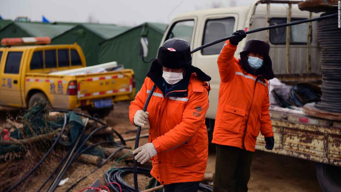 Rescue operation to free Chinese miners trapped underground for nearly 2 weeks could take another 15 days