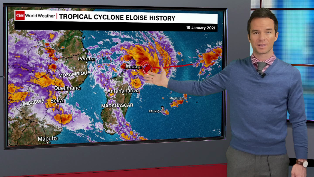 Tropical Cyclone Eloise strengthens before imminent Mozambique landfall