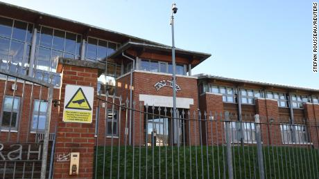 The wedding took place at the Yesodey Hatorah Senior Girls' School in Stamford Hill, north London.