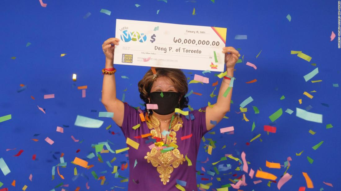 A woman who won a $60 million lottery said she got the winning numbers from  her husband's dream - CNN