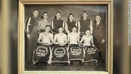 This photo, originally published in the Monahan Post News in 1947, shows Mil Bardsley, bottom right, with his American Legion boxing team. The photo is part of his son's, author Greg Bardsley, personal archive.
