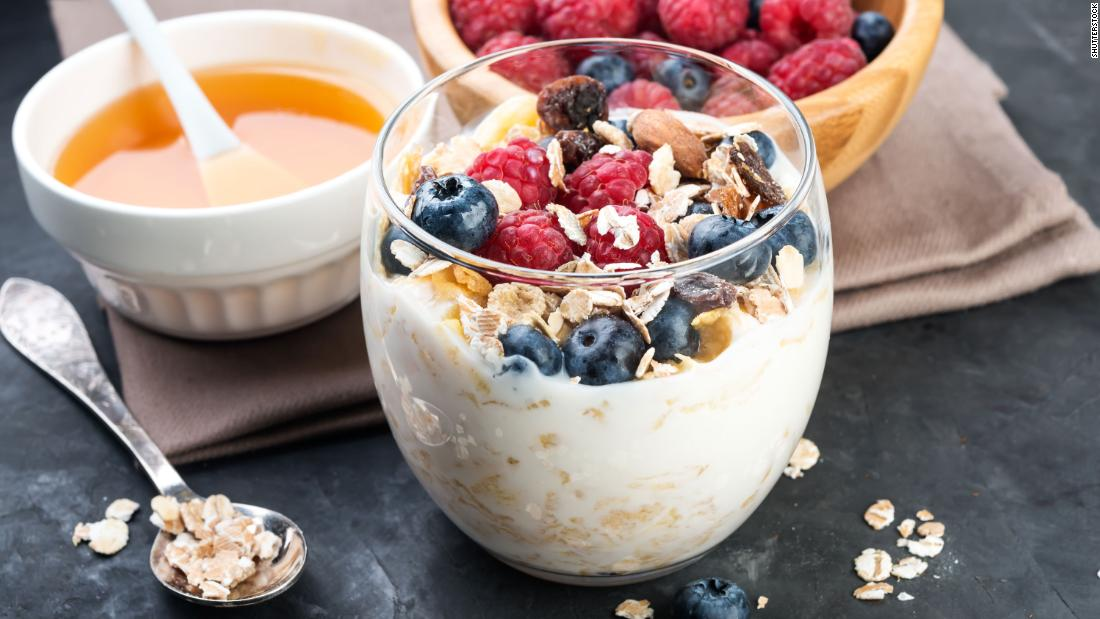 The probiotics in yogurt help reduce cortisol levels; top with mixed berries for a vitamin C bonus.