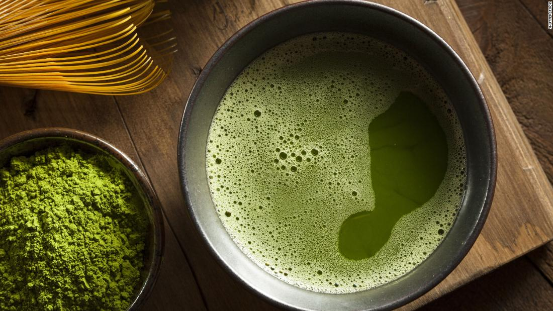 Calming matcha reduces anxiety; the theanine in this tea helps you relax.