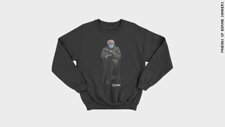 Senator Bernie Sanders is selling this sweatshirt with the inauguration photo that became an internet sensation.