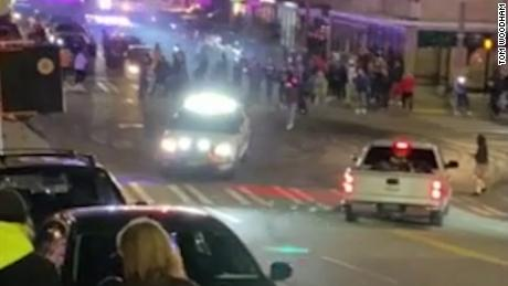 Tacoma police officer drives through crowd, hitting at least 1 person