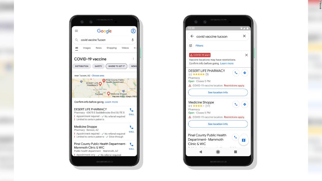Google Maps will soon display Covid-19 vaccination sites