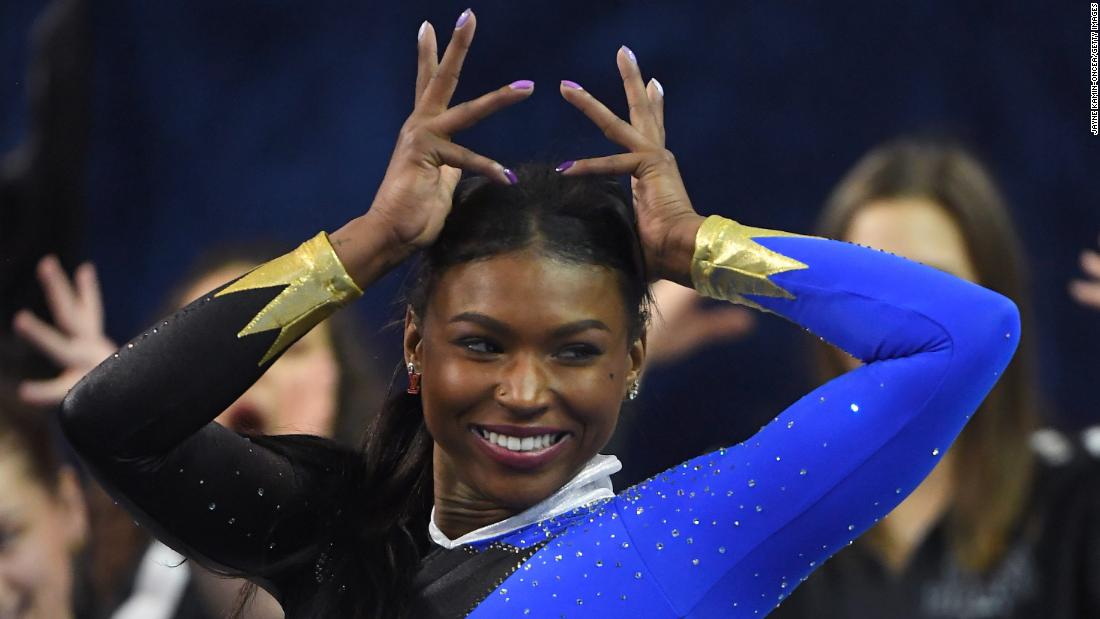 Gymnast earns praise for her 'Black excellence' routine