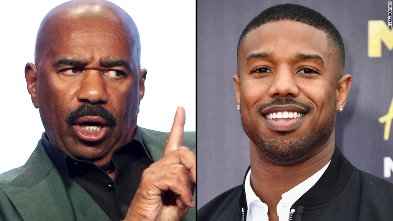 Steve Harvey has his eye on daughter's boyfriend, Michael B. Jordan