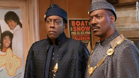 """Arsenio Hall (left) and Eddie Murphy (right) star in """"Coming 2 America."""""""