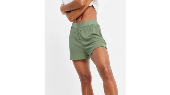 Asos Design Soft Rib Pajama Short