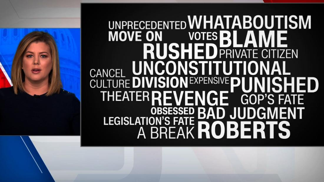 The GOP's 20 reasons why there shouldn't be impeachment trial