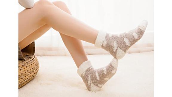 Toes Home Plush Slipper Socks, 6-Pack