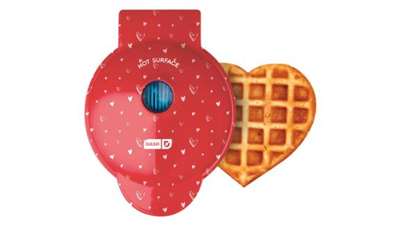 Dash Heart-Shaped Mini Waffle Maker