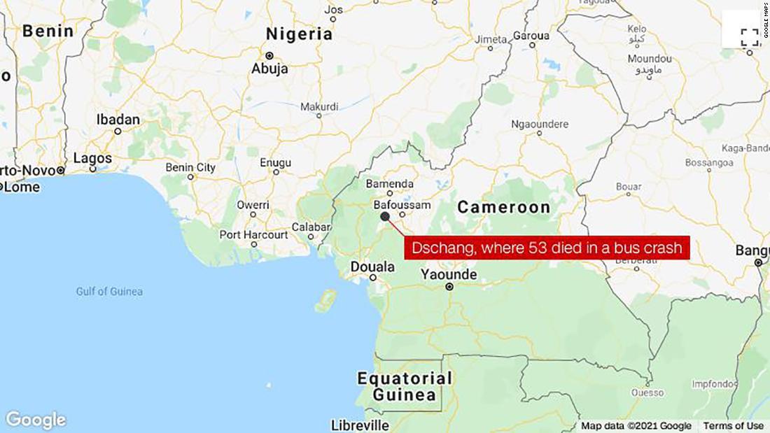53 dead in West Cameroon bus crash