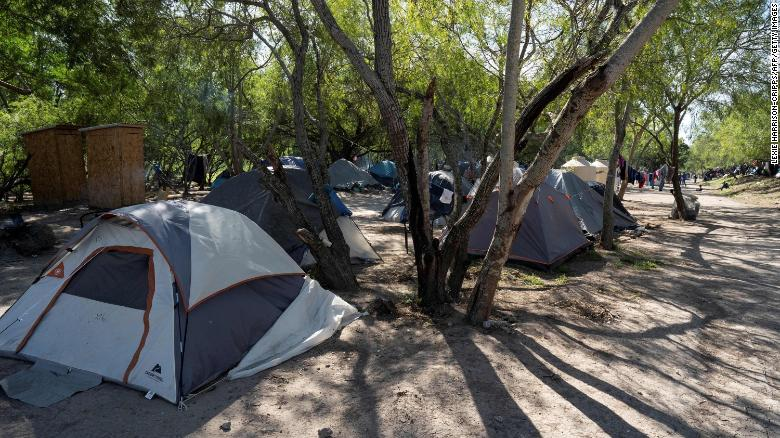 Infamous tent camp on US-Mexico border drawn down after Biden ends Trump policy
