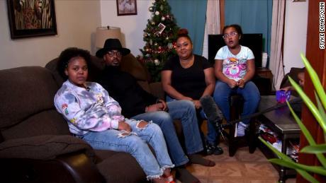 Family Keys: Jezeniah Keys (7th grade), Steven Keys, Reella Garcia, Mariah Keys (2nd grade) pictured from left to right.