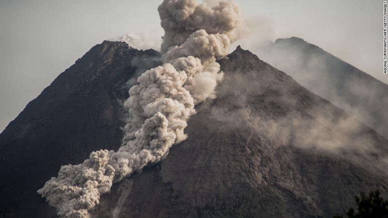 Indonesia's Mount Merapi volcano erupts, spews clouds of ash