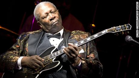 B.B. King performs his 10,000th concert at B.B. KIng Blues Club & Grill in Times Square on April 18, 2006 in New York City
