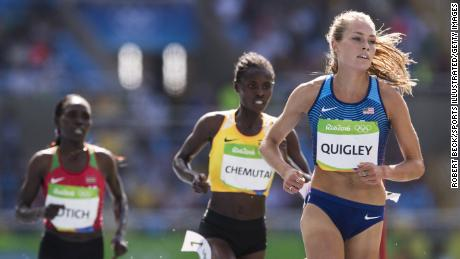 Quigley races during the 2016 Rio Olympics.