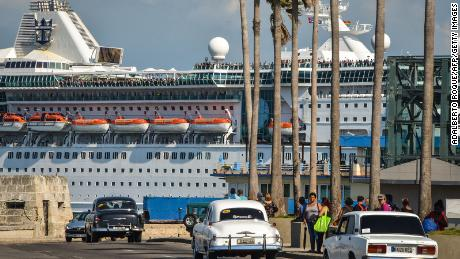 The Empress of the Seas, owned by Royal Caribbean, was the last US cruise ship in Havana following new sanctions against the island. June 5, 2019.