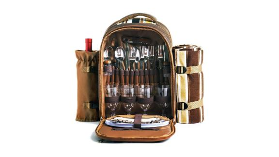 Picnic Backpack Bag With Cooler Compartment