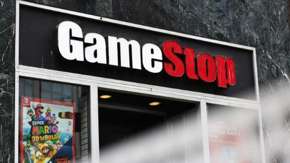 NEW YORK, NEW YORK - JANUARY 27: GameStop store signage is seen on January 27, 2021 in New York City. Stock shares of videogame retailer GameStop Corp has increased 700% in the past two weeks due to amateur investors. (Photo by Michael M. Santiago/Getty Images)