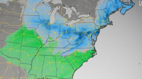 A 709-day snow drought will come to an end on Sunday in Washington, DC