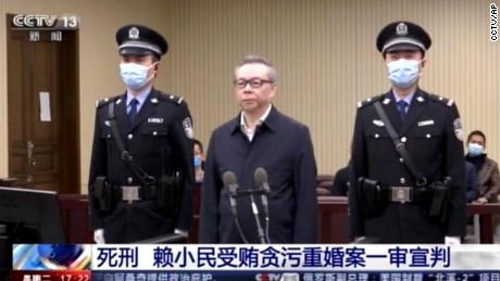 Lai Xiaomin attends court in Tianjin, China, on January 5.