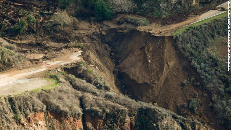 A huge piece of California's Highway 1 near Big Sur collapsed into the ocean